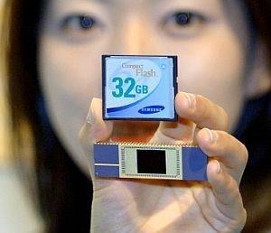 Samsung crea chips de memoria flash de 32 gigas