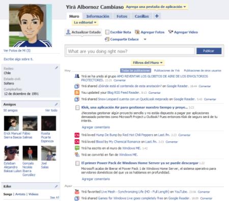 Nuevos perfiles en Facebook, CON PESTAÑAS