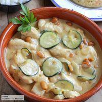 Receta de pechugas de pollo con salsa de cacahuetes