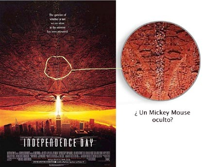 mickey mouse en Independence day