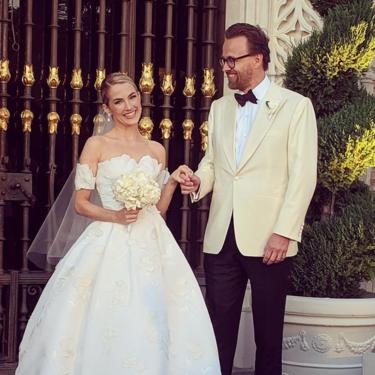 Amanda Hearst, ex nuera de Naty Abascal, se casa con un diseño de Oscar de la Renta en California