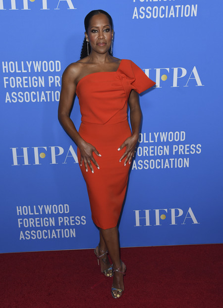hfpa banquete red carpet Regina King