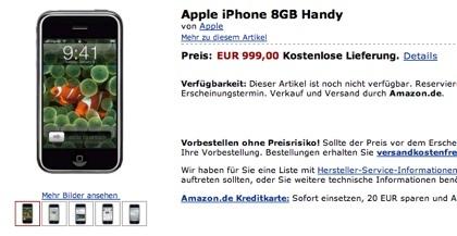 El extraño caso del iPhone en Amazon.de