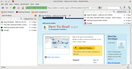 Save To Read Firefox