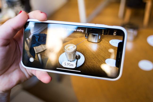 Measure Kit en el iPhone X