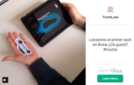 Toyota España, entre las primeras marcas en lanzar un spot a través de Vine