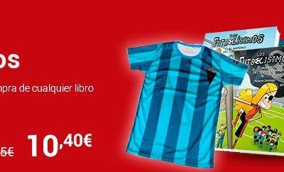Fnac regala una camiseta de los futbolísimos por la compra de un libro (rebajados a 10,40€)