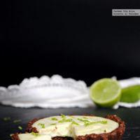 Tartaletas de lima y queso crema. Receta sin horno