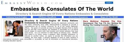Embassy World, directorio de embajadas y consulados