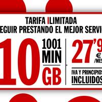 """Pepephone estrena tarifa """"ilimitada"""" con 10 GB y 1.001 minutos"""