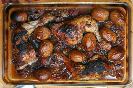Pollo Caramelizado Uvas