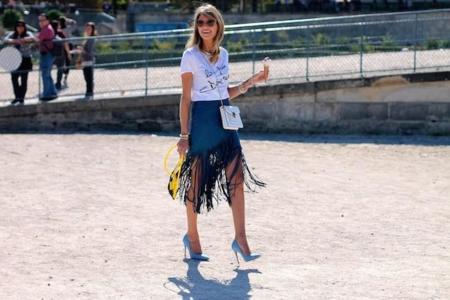 Street Style Semana de la Moda de París: las it girls también comen helados