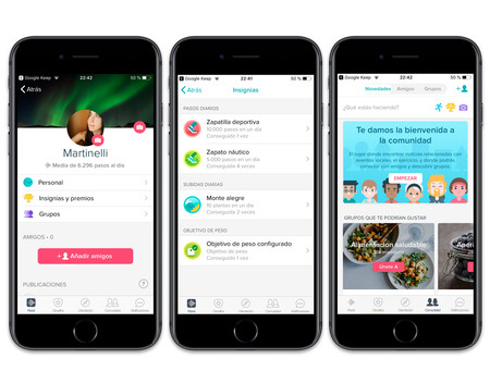 Fitbit App Paneles