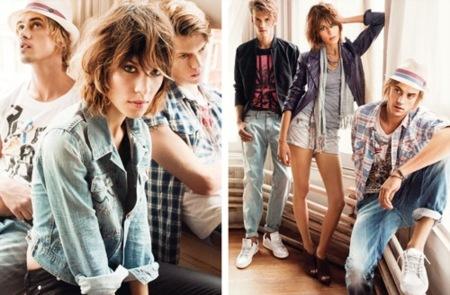 Alexa Chung en la campaña de Pepe Jeans