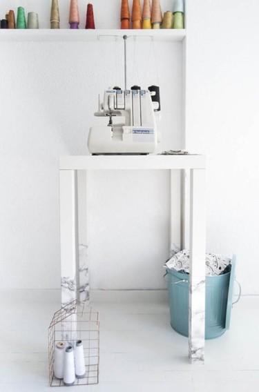 Hazlo tú mismo: decora las patas de tus muebles con falso mármol