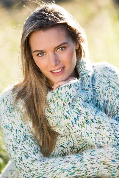 rostro mujer invierno