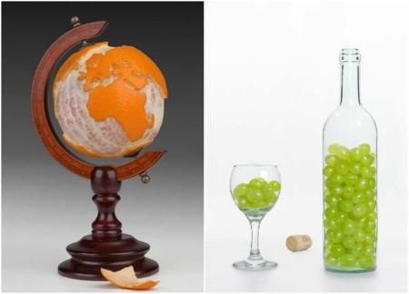 Alimentos convertidos en objetos por Martin Roller