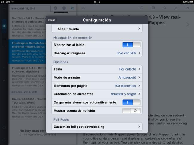 Foto de Lectores RSS para el iPad (3/20)