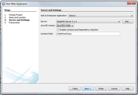PrimeFaces - eligiendo el servidor donde desplegar