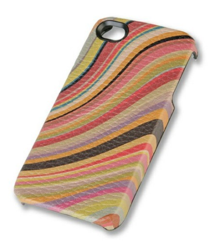 Carcasa de cuero vintage de Paul Smith para iPhone 4 y 4S