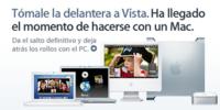 """Apple actualiza su web española con la campaña """"Tómale la delantera a Vista"""""""