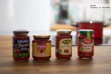 Comparativa de tomates fritos estilo casero en conserva
