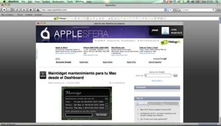 Minefield, versión de Firefox 3, optimizado para procesadores G5 e Intel