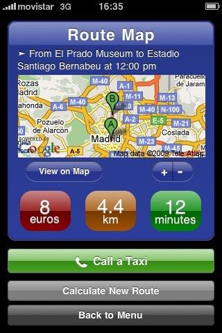Taxis y Trenes, planificando viajes en el iPhone