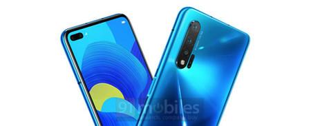 Las primeras imágenes del futuro Huawei Nova 6 5G muestran una pantalla perforada con doble cámara frontal