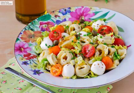 Ensalada de pasta con tortellini: una receta diferente con el sabor de Italia