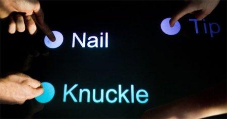 TapSense reconoce con qué parte de la mano interactuamos