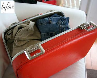 Antes y después: la maleta que se cansó de viajar