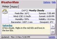 Conoce el tiempo en tu ciudad con WeatherMate