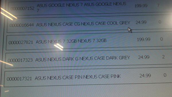 Asus Nexus 7 32GB 199 libras