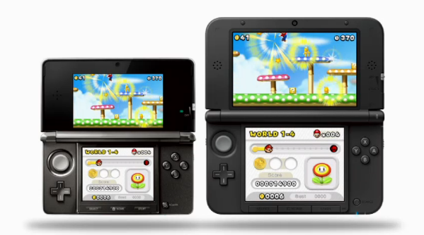 comparativa nintendo 3DS tamaño pantalla