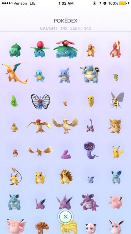 Pokedex Pokemon Go