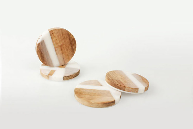 Hattern Resin Wood Stool 10