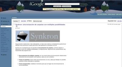 Lanzada la nueva versión de iGoogle