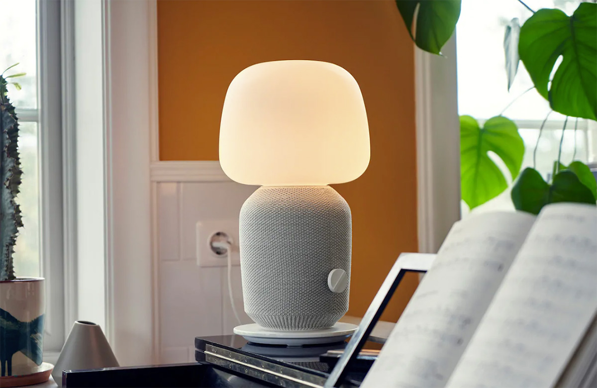 SYMFONISK Lámpara mesa +altavoz WiFi, blanco