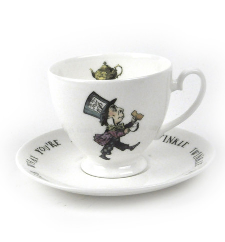 Kit428 Mad Hatter Cup And Saucer 1