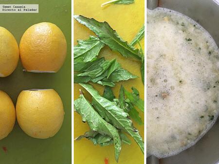 Agua de limón amarillo con epazote. Receta fácil de agua fresca