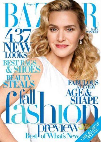 Kate Winslet, increíble en la portada de Harper's Bazaar de Agosto de 2009