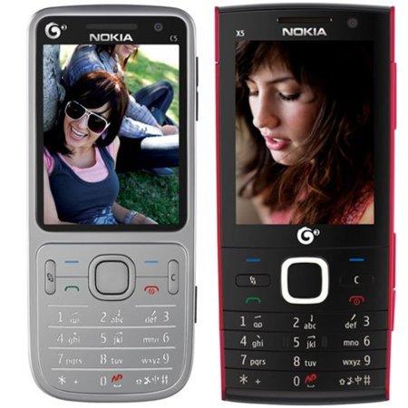 Nokia X5, y un remozado Nokia C5, anunciados oficialmente, aunque sólo para China