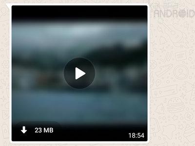WhatsApp ahora reproduce los vídeos en streaming mientras se descargan