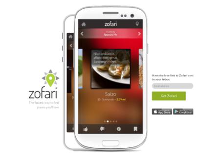 Yahoo compra Zofari, una aplicación de recomendaciones locales
