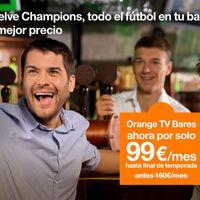 Orange redobla su apuesta por los bares rebajando a 120 euros el paquete fútbol hasta septiembre