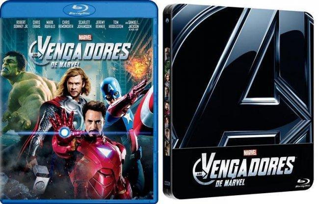 Imagen con la carátula del bluray español de 'Los Vengadores'