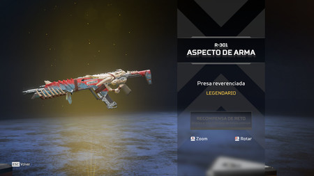 Aspecto R 301 Apex Legends