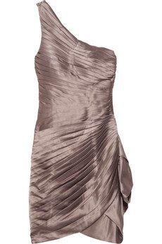 vestido nude asimetrico