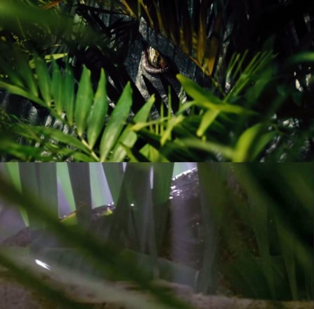 Jurassic World y Jurassic Park, maleza